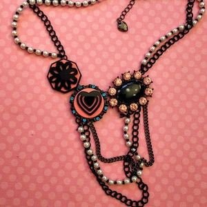 Betsey Johnson Pearl Multi-Layer Necklace
